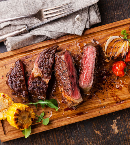 Steak on a Cutting board Image
