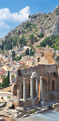 Taormina, Sicily: One of the fabulous ports-of-call for the 2012 wine cruise